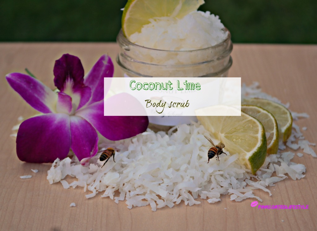 DIY Coconut Lime Body Scrub