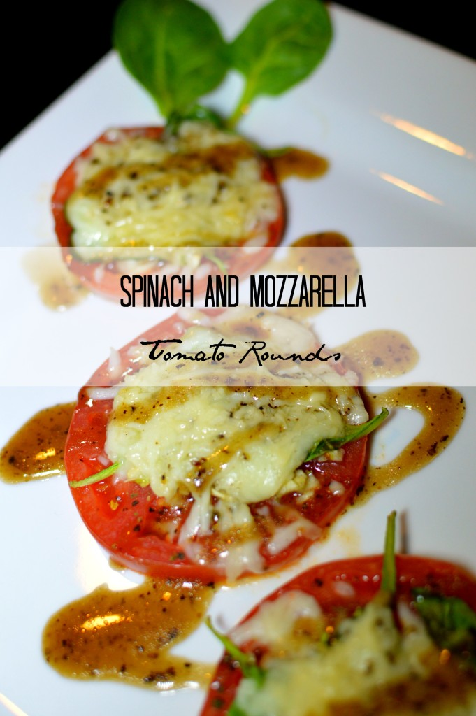 Spinach and Mozzarella Tomato Rounds