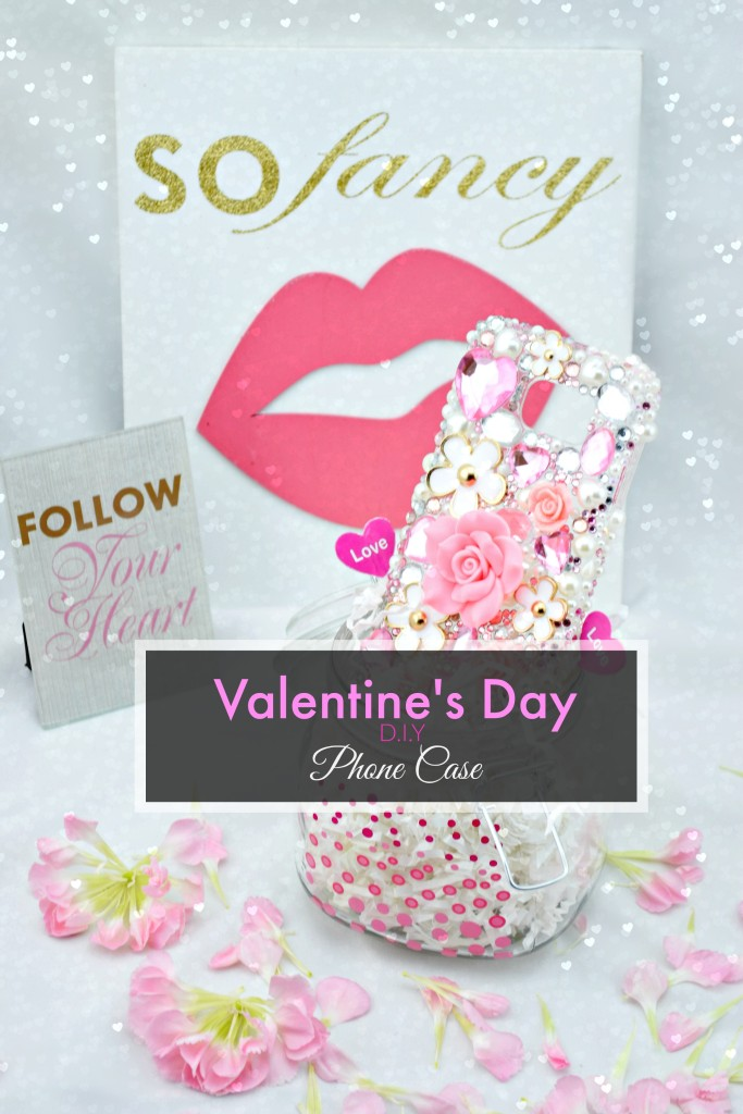 DIY Valentine's Day Bling Phone Case